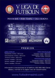 V liga futbolin parkim bar irish temple