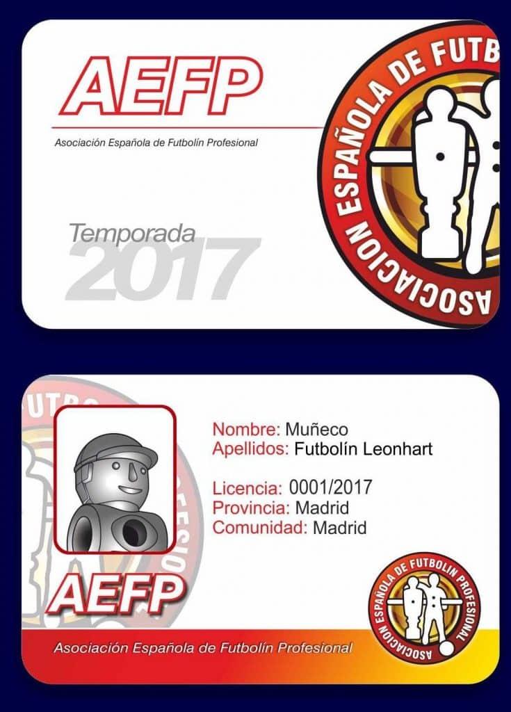Licencias futbolin